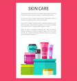 skin care poster with text vector image vector image