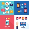 Social Network Technology Banner set User vector image vector image