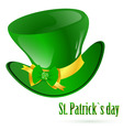 St Patrick's green hat vector image vector image