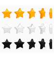 Star animation set vector image vector image