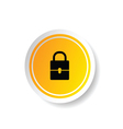 sticker in yellow color with padlock vector image