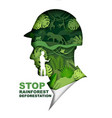 stop rainforest deforestation poster banner vector image vector image