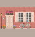 street building facade house front shop vector image vector image