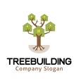 Tree Building Design vector image vector image