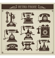 vintage phones vector image