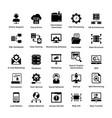 web hosting glyph icon designs 5 vector image vector image