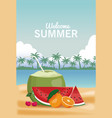 welcome summer concept vector image