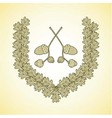wreath oak2 vector image