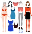Paper doll vector image