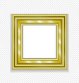 Gold Vintage Frame Decorative Picture vector image