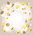 Money shower festive background vector image