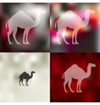camel icon on blurred background vector image