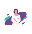 a physician doctor vector image vector image