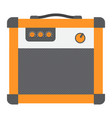 amplifier flat icon music and instrument vector image