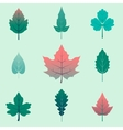 autumn leaves set isolated on white background vector image vector image