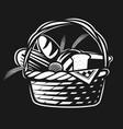 bakery basket vector image vector image
