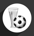 beer and soccer vector image vector image