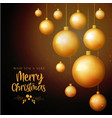 black and golden merry christmas background vector image vector image
