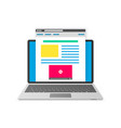 blogging flat design concept vector image