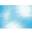 blue halftone background for design vector image