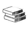 book pile icon image vector image