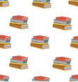 book stack seamless pattern vector image vector image