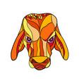 brahma bull head mosaic color vector image vector image