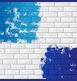 brick wall with color vector image vector image