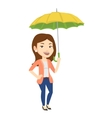 Business woman insurance agent with umbrella vector image vector image