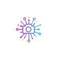 camera share logo icon design vector image vector image