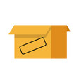 cardboard box icon open empty container carton vector image