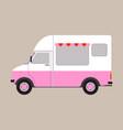 cargo van ice cream vector image vector image