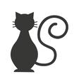 cat mascot pet silhouette icon vector image vector image