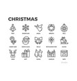 christmas thin line icons holiday gifts and vector image vector image