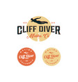 cliff diving logo inspirations t shirt restaurant vector image vector image