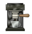 coffee espresso machine front view colored crayon vector image
