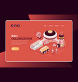 colonizing mars website banner vector image vector image