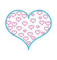 color line hearts design inside big heart vector image vector image