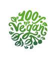 concept of vegan word green vector image