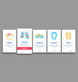 cricket game onboarding elements icons set vector image vector image
