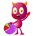 devil with information on white background vector image vector image