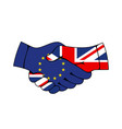 eu and united kingdom trade and business agreement vector image vector image