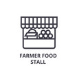 farmer food stall line icon outline sign linear vector image