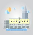 flat design italian building cityscape vector image vector image