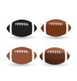 football ball set isolated on a white background vector image