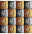 gold and silver seamless pattern the royal lily vector image vector image