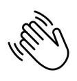 hand wave or hand waving hello line icon vector image vector image