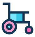 handicap medical icon filled line blue pink color vector image vector image