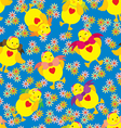 Happy Chick Pattern vector image vector image