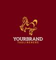 horse logo stable farmvalleycompany race logo vector image vector image